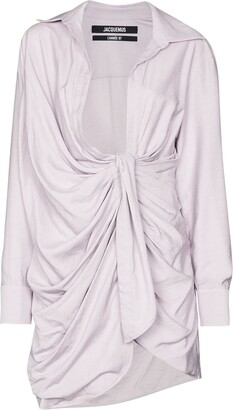 Jacquemus La robe Bahia knotted shirt dress