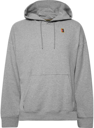Nike Tennis - Nikecourt Logo-appliqued Loopback Cotton-jersey Hoodie - Gray