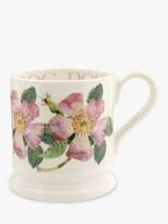 Emma Bridgewater Dog Rose Half Pint Mug, 280ml, Pink/Multi
