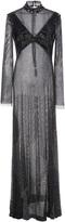 Prabal Gurung Crystal Mesh Long Sleeve Gown