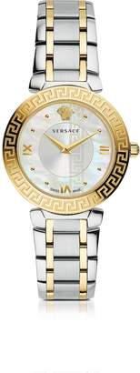 Versace Daphnis Two-Tone Stainless Steel Women's Watch w/Greek Engraving