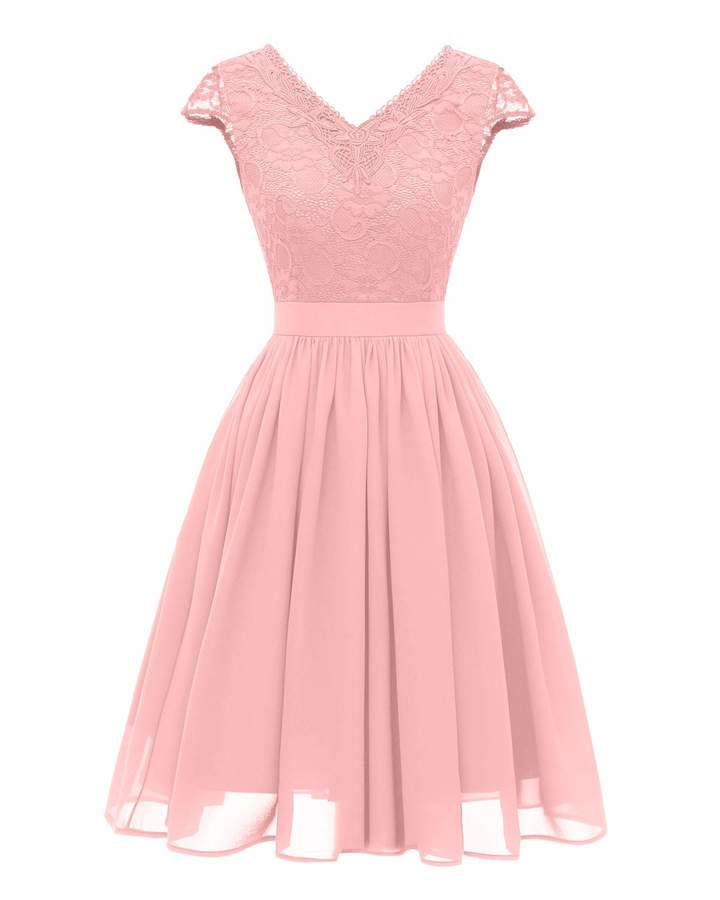 184db7059f Pink Party Dress Lace - ShopStyle Canada