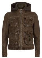 Neil Barrett Double Layered Leather Jacket