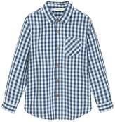 MANGO Boys Chest-Pocket Cotton Shirt