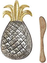 Mud Pie Pineapple Dip Bowl with Wood Spreader
