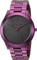 Michael Kors Women's 'Slim Runway' Quartz Stainless Steel Casual Watch, Color:Purple (Model: MK3551)