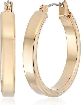 "GUESS Basic"" Gold Small Wedding Band Hoop Earrings"