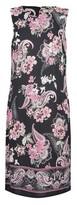 Dorothy Perkins Womens Billie & Blossom Tall Black Paisley Print Shift Dress, Black