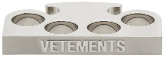 Vetements Silver Logo Knuckle Rings