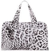 Norma Kamali Animal-Print Rectangle Bag, White Pattern