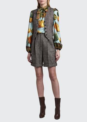 Dolce & Gabbana Tartan Vest with Contrast Back