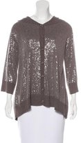 Alice + Olivia Sequined Hooded Cardigan