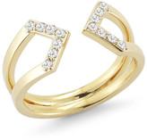 Elizabeth and James Kuril White Topaz Wrap Ring