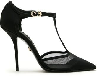 Dolce & Gabbana T-strap mesh sandals