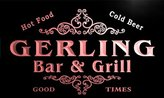 AdvPro Name u16473-r GERLING Family Name Gift Bar & Grill Home Beer Neon Light Sign