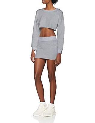 NEON COCO Women's Crew Neck Long Sleeves Mini Skirt Co-ords Set Sportswear,Small