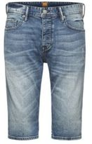 Hugo Boss Orange 90 Short Tapered Fit, 11.5 oz Denim Shorts 30 Turquoise