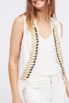 Free People Shrunked Military Vest