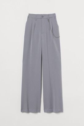 H&M Wide chain-detail trousers