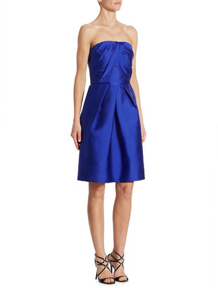 Monique Lhuillier Ml Strapless Cocktail Dress