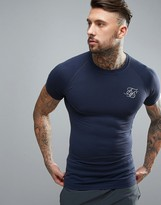 SikSilk Compression T-Shirt In Navy