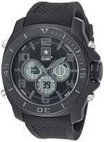 U.S. Army Men's Analog-Digital Chronograph Black Silicone Strap Watch by Wrist Armor F2/1006