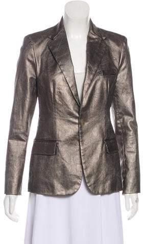 Ralph Lauren Black Label Structured Metallic Blazer