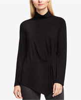Vince Camuto Side-Ruched Asymmetrical Turtleneck