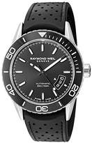 Raymond Weil Men's 'Freelancer' Swiss Automatic Stainless Steel and Rubber Casual Watch, Color:Black (Model: 2760-SR1-20001)
