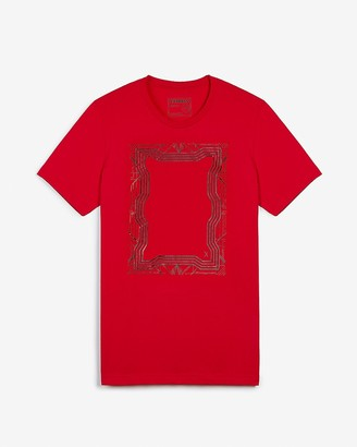 Express Red Frame Graphic T-Shirt