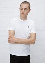 Comme des Garcons white small black heart t-shirt