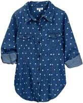 Splendid Polka Dot Denim Shirt (Big Girls)