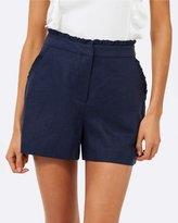 Forever New Ollie Linen Frill Edge Shorts