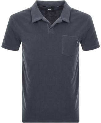HUGO BOSS Boss Business Beach Polo T Shirt Grey