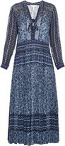 Rebecca Taylor Paisley-print silk and cotton-blend midi dress