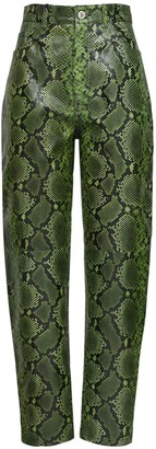 ATTICO Python Print Slouchy Leather Pants