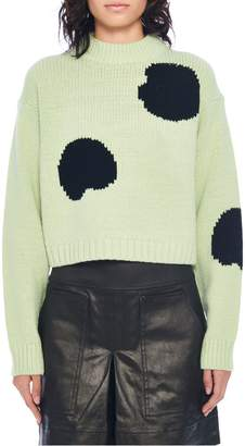 Tibi Cropped Wool-Blend Sweater