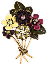 Oscar de la Renta Flower Bouquet Brooch