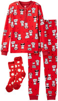Petit Lem Frenchie Pajama Set & Socks (Little Girls)