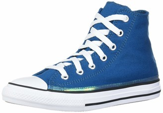 Converse Girl's Chuck Taylor All Star Sparkle Trim High Top Sneaker