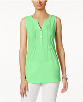 Charter Club Pleated Henley Top, Created for Macy's