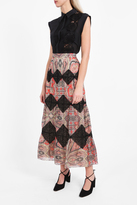 Vilshenko Vineta Patchwork Skirt
