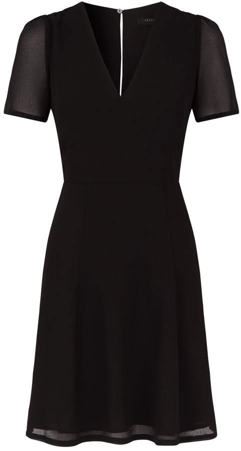AllSaints Lucia Chiffon Mini Dress