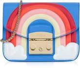 Furla Toni Celeste Fantasia Printed Leather Metropolis Mini Crossbody Bag