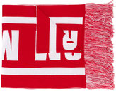 MSGM intarsia logo scarf