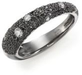 Kwiat Cobblestone Black/White Diamond & 18K White Gold Band Ring