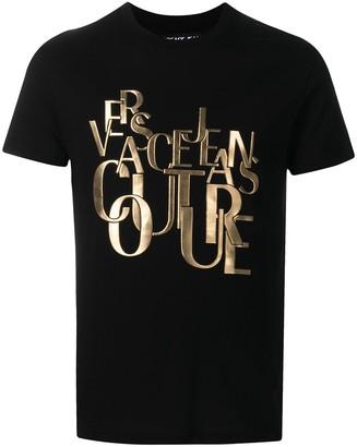 Versace Jeans Couture raised logo cotton T-shirt