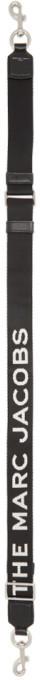 Marc Jacobs Black Thin Logo Bag Strap