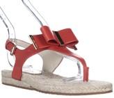 MICHAEL Michael Kors Med Thong T-Strap Flat Sandals, Mandarin, 5 US