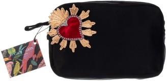 Black Velvet Bag With Red Heart Brooch